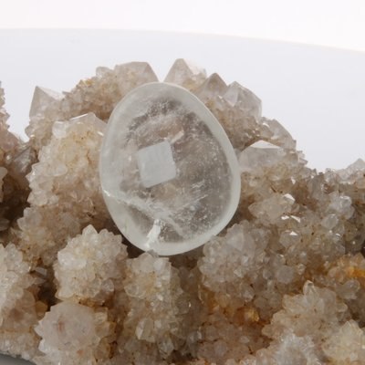 Clear Quartz Worry Stone