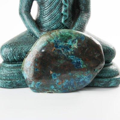 Polished Chrysocolla-Shattuckite Display Piece