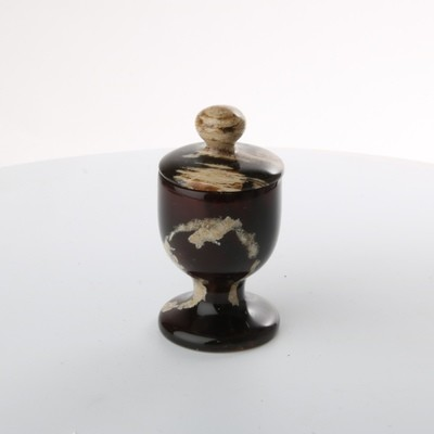 UV Reactive Amber Goblet with Lid
