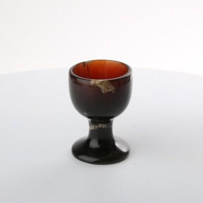 UV Reactive Amber Goblet