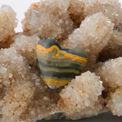 Bumblebee Jasper Heart Cabochon