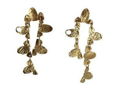 Lingua Nigra: Ball and Chain Asymmetrical Dangle Earrings