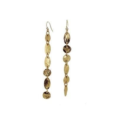 Lingua Nigra: Gold Strokes Mismatched Earrings