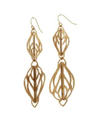 Lingua Nigra: At the Top Long Dangle Earrings