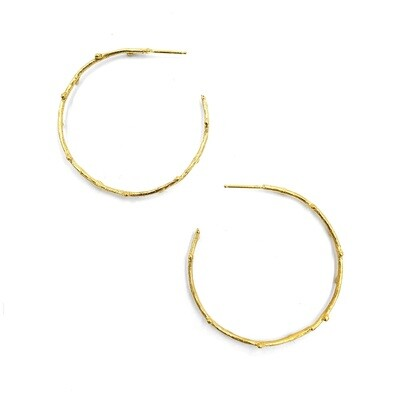 Anna Johnson: Medium Gold Twig Hoops