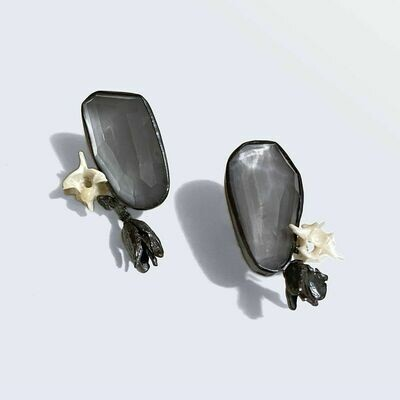 Anna Johnson: Moon Quartz Flora Studs