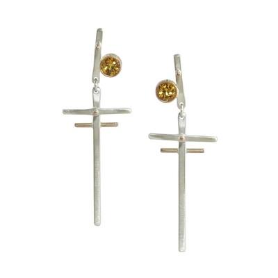 Madeleine Moore: Spessartite Garnet Post Earrings