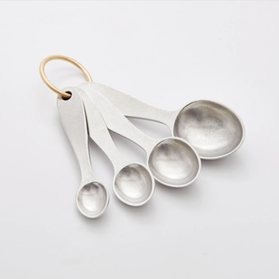 Beehive Handmade: Pewter Measuring Spoons w/ Brass Ring