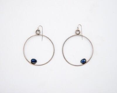 Lisa Colby: Giant Hoops Kyanite Earrings