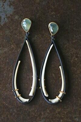 Carin Jones: Aquamarine and Bobcat Earrings