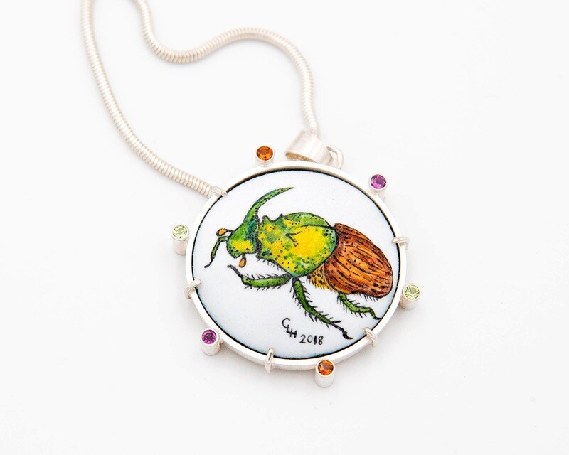 Charity Hall: Dung Beetle Pendant Necklace