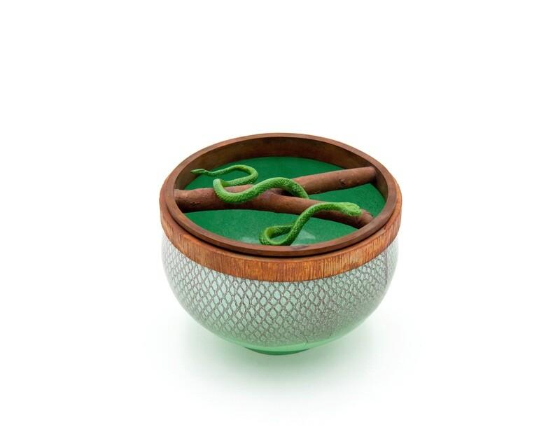 Harlan Butt: Rough Green Snake Vessel #1