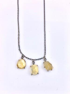 Joanna Gollberg: 3 stone citrine necklace