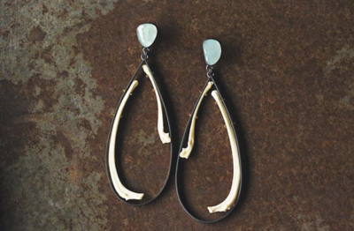 Carin Jones: Aquamarine Bobcat Earring