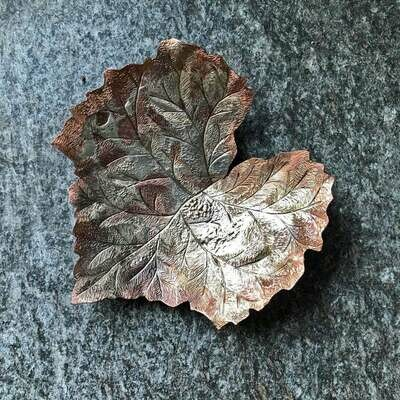 Kingfisher Designs: Large Copper and Silver Leaf Bowl