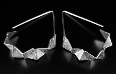 Flux Jewelry Design: Origami Hoop Dangles
