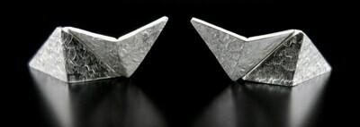 Flux Jewelry Design: Origami Lightning Studs