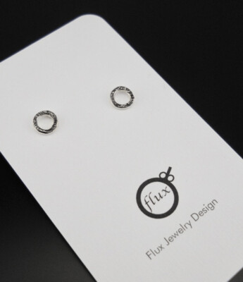 Flux Jewelry Design: Circle Studs
