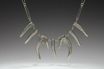 Charity Poole: Deer Antler Necklace