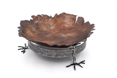 "Kingfisher Designs: ""Walk in the Woods"" Footed Bowl"