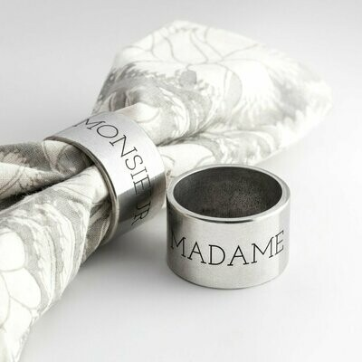 Beehive Handmade: Newlywed Napkin Ring Set