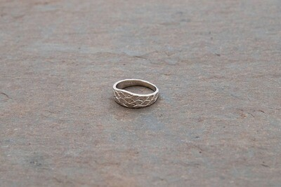Carol Blumthal: Short Snake Skin Ring