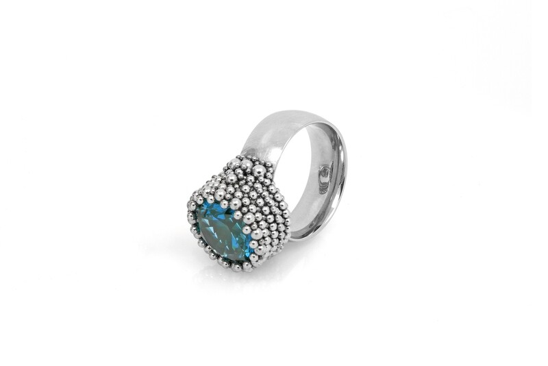 Ben Dory: Blue Solitaire Ring