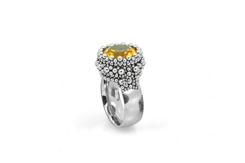 Ben Dory: Yellow Solitaire Ring