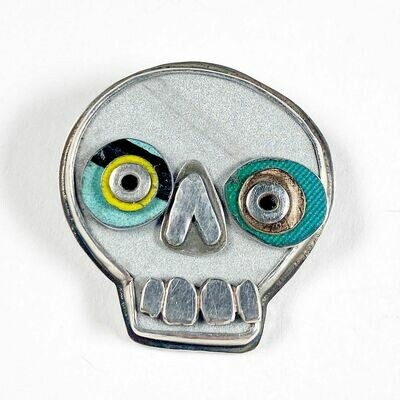 Amuck Design: Small Skull Brooch
