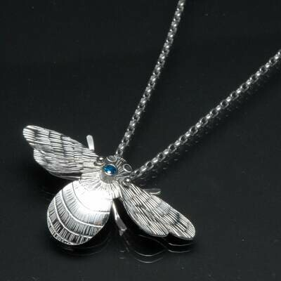 Charity Hall: Kinetic Bee Necklace