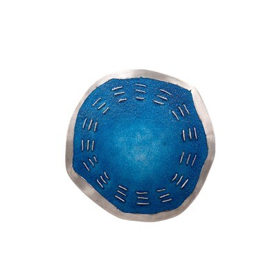 Sarah Perkins: Blue Stitched Brooch