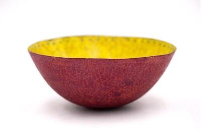 Sarah Perkins: Yellow Crackle Bowl