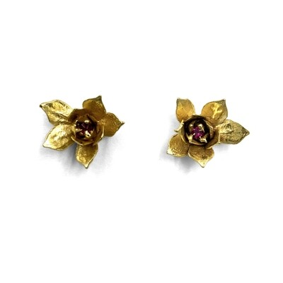Anna Johnson: Gold Ruby Sedum Studs