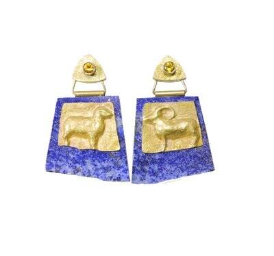 Linda K. Priest: Ram and Lamb Earrings