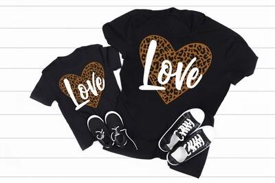 "Leopard hearts ""Love"""