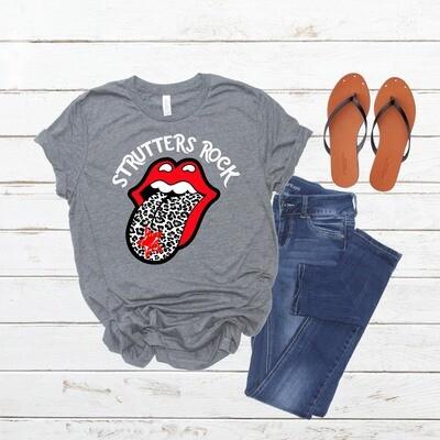 Strutters Rock Tongue Shirt W/ Leopard Print