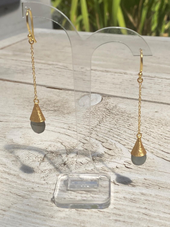 Handgemaakte oorbellen in 925 zilver verguld