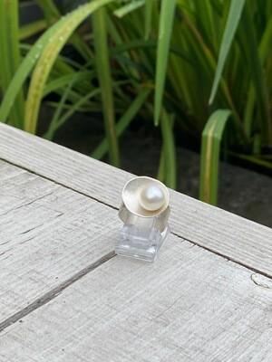 Ring 925 zilver met zoetwaterparel