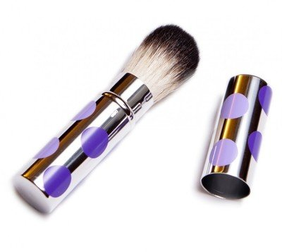 On-The-Go Retractable Polka-Dot Brush