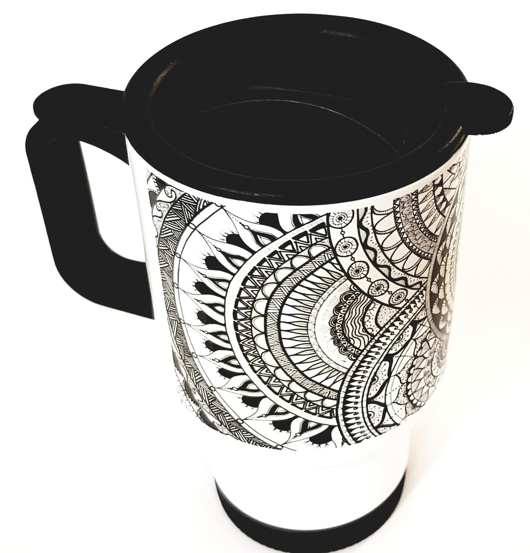 כוס תרמית שחור לבן