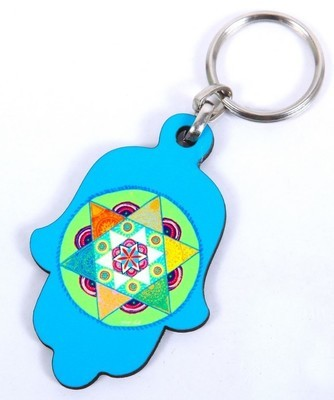 מחזיק מפתחות מגן צבעוני