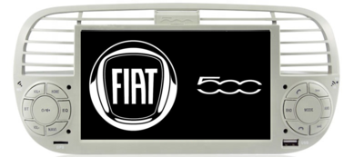 FIAT 500 Multimedia Android 10.0 weiss