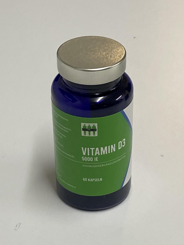 Vitamin D3 - 5000 iE - 125 ug (60 Kapseln)