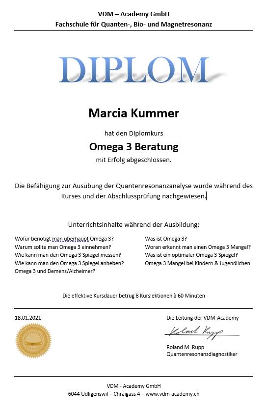 """Diplomkurs """"Omega 3 Berater/in"""""""