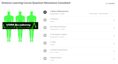 Distance Learning Course Quantum Resonance Consultant english