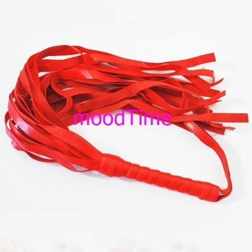 45cm Long Leather Whip Flirting Toy | moodTime