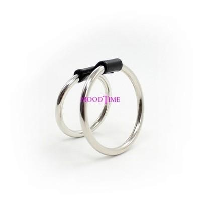 Stainless Steel Cock Rings 2 Rings   moodTime
