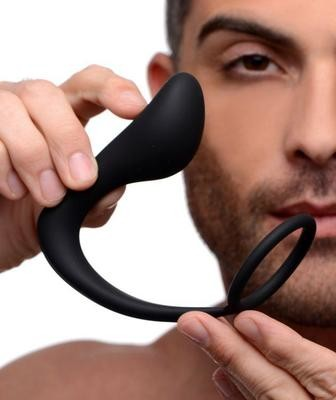 Ass-Gasm Silicone Cockring Male G Spot Plug  | moodTime
