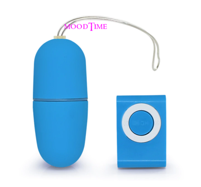 Wireless Remote Control Vibrating Egg - Blue | moodTime