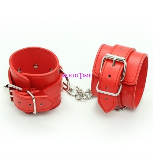 Quality Red SM Hand Cuffs Bracelet Sex Toy   moodTime